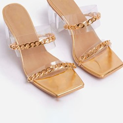 Shoespie Sexy Chain Flip Flop Slip-On Casual Slippers