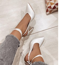 Shoespie Stylish Closed Toe Lace-Up Stiletto Heel Lace-Up Sandals