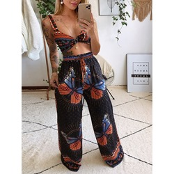 Print Sexy Animal Pullover Women's Two Piece Sets
