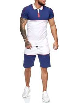 Sports T-Shirt Patchwork Spring Outfit
