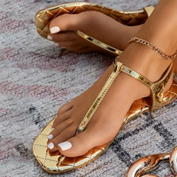 Shoespie Stylish Buckle Flat With Round Toe Buckle Sandals