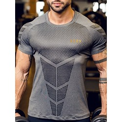 Sports Print Camouflage Pullover Short Sleeve T-shirt