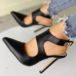 Shoespie Sexy Buckle Pointed Toe Stiletto Heel Hollow Sandals