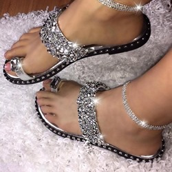 Shoespie Trendy Toe Ring Flat With Slip-On Summer Slippers
