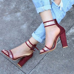 Shoespie Stylish Open Toe Buckle Chunky Heel Sandals