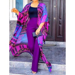 African Ethnic Style Vest Print Straight Women's Two Piece Sets