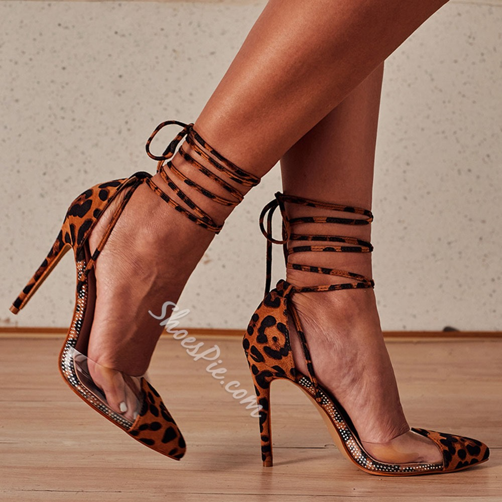 Shoespie Trendy Lace-Up Lace-Up Stiletto Heel High Heel (5-8cm) Thin Shoes