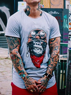 Casual Print Round Neck Short Sleeve Loose T-shirt