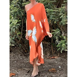 Ankle-Length Long Sleeve Patchwork Fashion Women's Dress