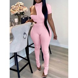 Pants Asymmetric Sexy Pullover Women's Two Piece Sets
