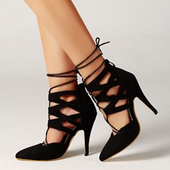 Shoespie Trendy Pointed Toe Stiletto Heel Zipper Banquet Thin Shoes