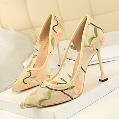 Shoespie Trendy Slip-On Stiletto Heel Pointed Toe Banquet Thin Shoes
