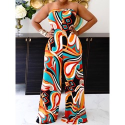 Full Length Fashion Backless Wide Legs Women's Jumpsuit
