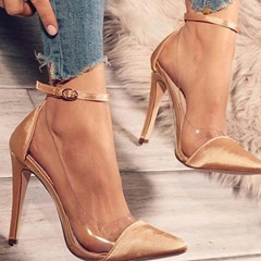 Shoespie Trendy Buckle Pointed Toe Stiletto Heel Plain Thin Shoes