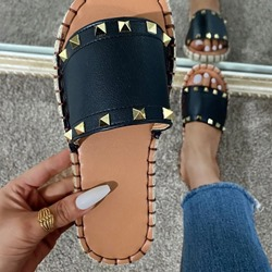 Shoespie Stylish Rivet Slip-On Flat With Summer Slippers