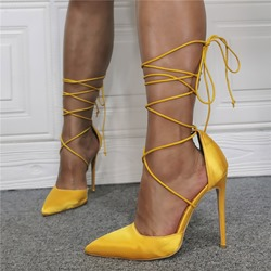 Shoespie Stylish Stiletto Heel Lace-Up Pointed Toe Sexy Thin Shoes