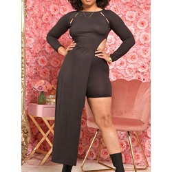 Dress Fashion Plain Straight Women's Two Piece Sets