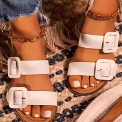 Shoespie Sexy Flat With Buckle Slip-On Casual Slippers