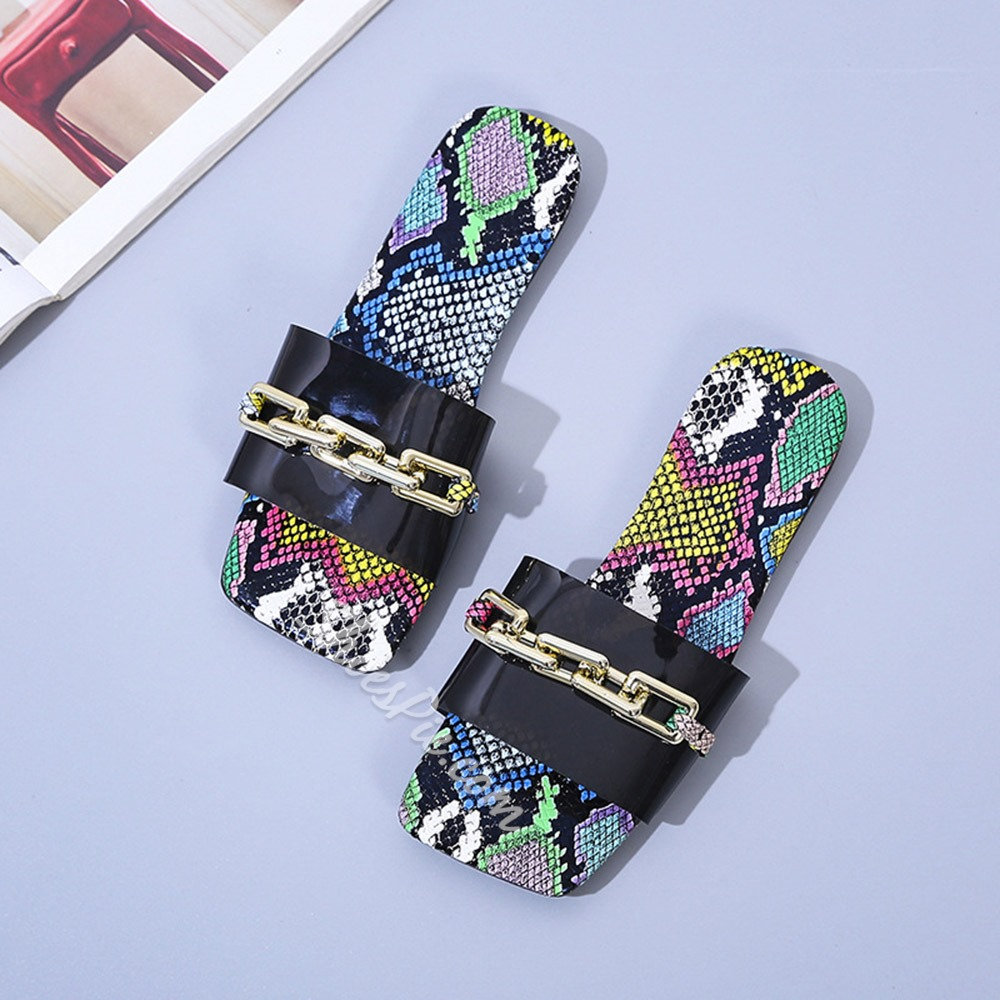 Shoespie Stylish Flat With Slip-On Flip Flop Rubber Slippers