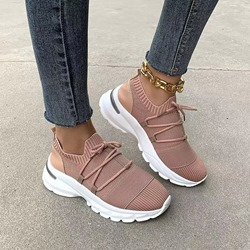Shoespie Stylish Low-Cut Upper Lace-Up Cross Strap Casual Sneakers