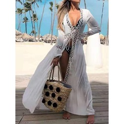 Fashion Hollow Lace-Up Women's Beach Tops