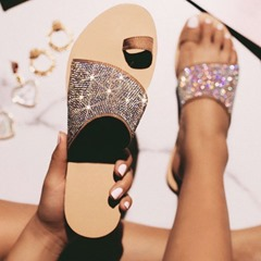 Shoespie Sexy Toe Ring Flat With Slip-On Casual Slippers