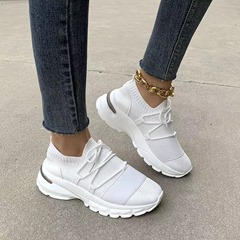 Shoespie Stylish Mid-Cut Upper Cross Strap Lace-Up Flat With Sneakers