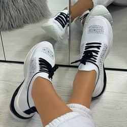 Shoespie Sexy Round Toe Low-Cut Upper Lace-Up Western Sneakers