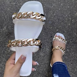 Shoespie Stylish Flat With Flip Flop Chain Summer Slippers