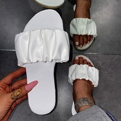 Shoespie Trendy Flat With Flip Flop Slip-On Plain Slippers