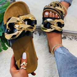 Shoespie Stylish Slip-On Flat With Sequin Summer Slippers
