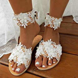 Shoespie Sexy Slip-On Appliques Flat With Rubber Slippers