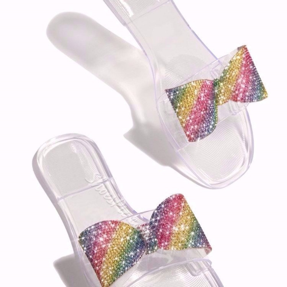 Shoespie Trendy Flip Flop Bow Flat With Plain Slippers