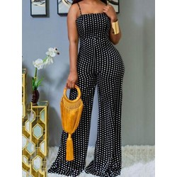 Full Length Office Lady Backless Straight Women's Jumpsuit