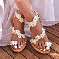 Shoespie Trendy Thong Flat With Slip-On Appliques Sandals