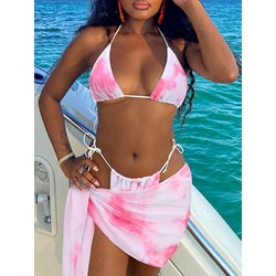 Print Color Block Western Women's Swimwear
