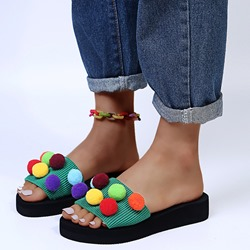 Shoespie Sexy 3D Flat With Toe Ring Ethnic Slippers