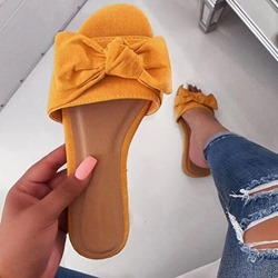 Shoespie Stylish Slip-On Bow Flat With Western Slippers