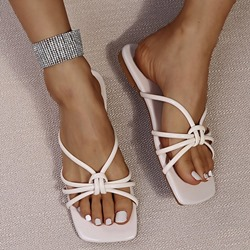 Shoespie Sexy Flat With Toe Ring Hollow Summer Slippers