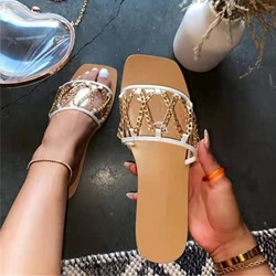 Shoespie Trendy Toe Ring Sequin Slip-On Casual Slippers