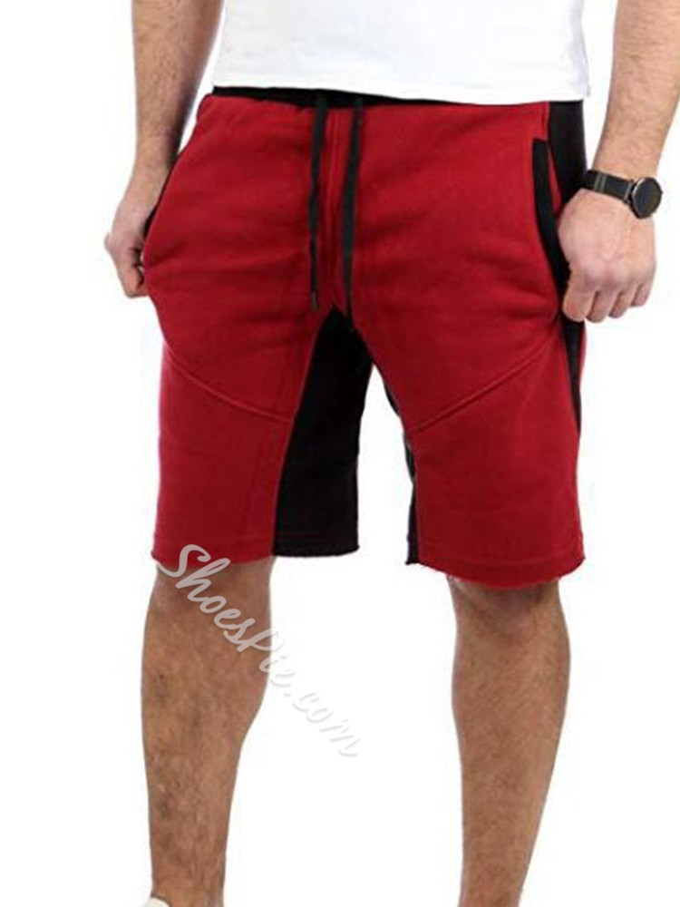 Color Block Straight Lace-Up Summer Casual Casual Pants