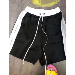 Straight Color Block Lace-Up Casual Lace-Up Shorts
