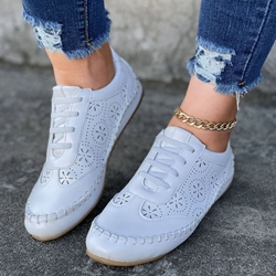 Shoespie Sexy Lace-Up Low-Cut Upper Flat With Sneakers