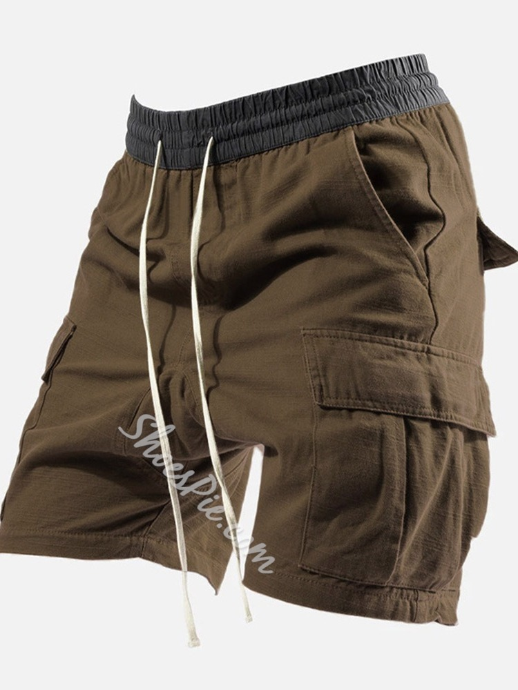 Lace-Up Straight Plain Lace-Up Casual Casual Pants