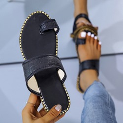 Shoespie Trendy Flat With Slip-On Thread Plain Slippers