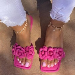 Shoespie Sexy Toe Ring Appliques Flat With Compound Slippers