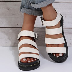 Shoespie Sexy Open Toe Buckle Flat With Western Sandals