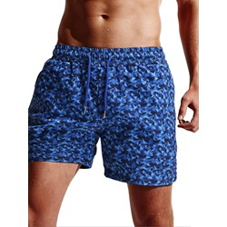 Straight Camouflage Lace-Up Beach Shorts