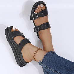 Shoespie Sexy Slip-On Flat With Buckle Summer Slippers
