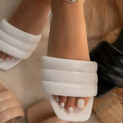 Shoespie Sexy Slip-On Toe Ring Flat With Simple Slippers